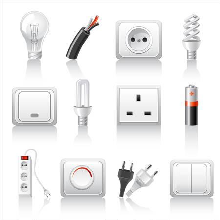 Elektrische accessoires iconen