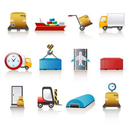 logistic icons  Illustration