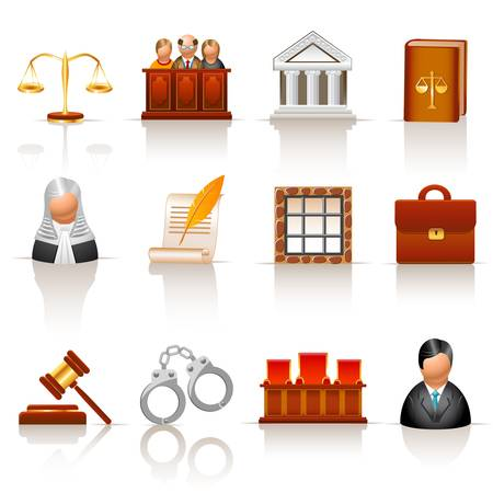 law icons  Stock Vector - 12489376