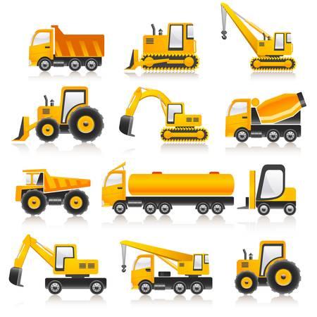 camion minero: m�quinas Vectores