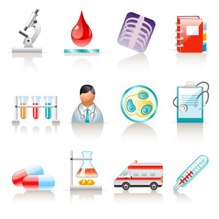 medical icons Stock Vector - 12489373