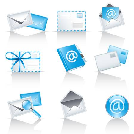 mail service icons  Stock Vector - 12489372