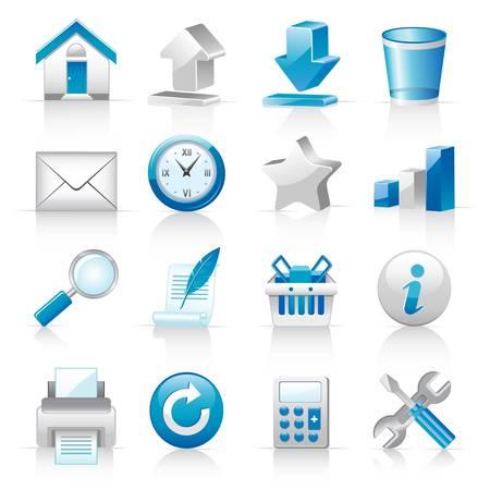 Pictogrammen voor websites Stock Illustratie