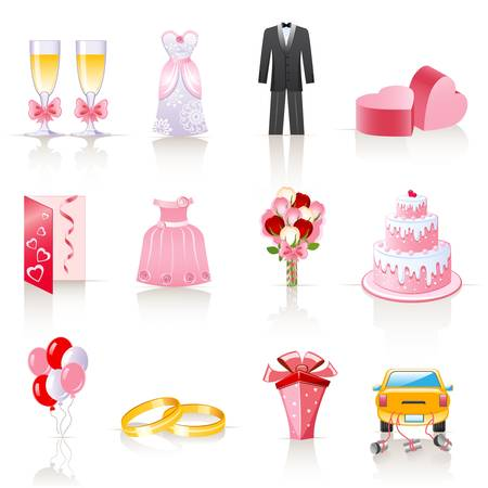 wedding icons  Illustration