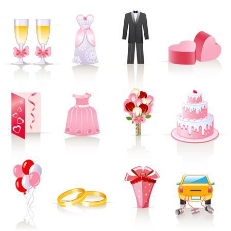 wedding icons  Ilustracja