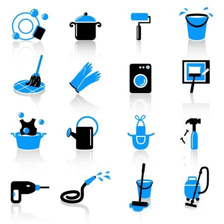 dweilen: huiswerk iconen