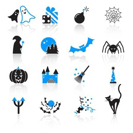 Grim Reaper: Halloween icons Illustration