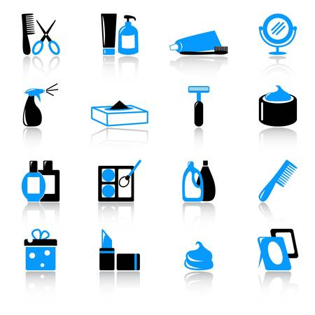 cosmetics products: cosmetic and hygiene icons