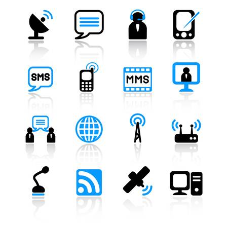 communications equipment: communication icons