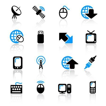 iconos del equipo de comunicaciones