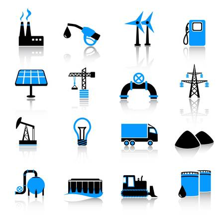 industrie iconen Stock Illustratie