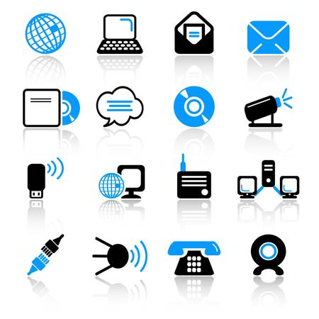 communications equipment: communication icons