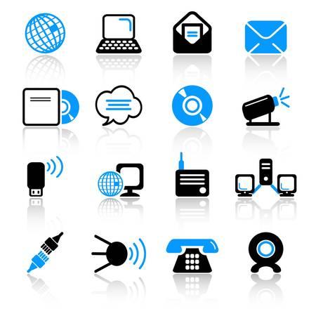 kommunikation: kommunikationsikoner