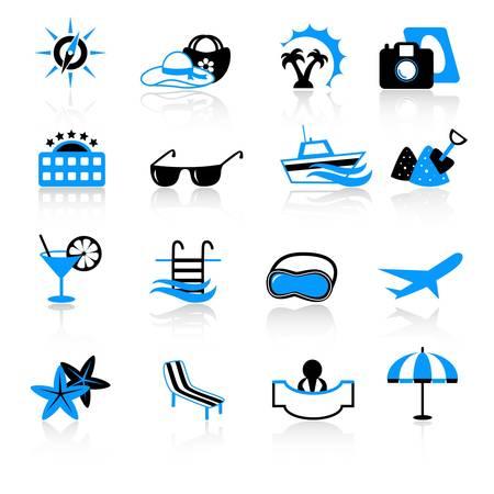 agence de voyage: icônes de voyage