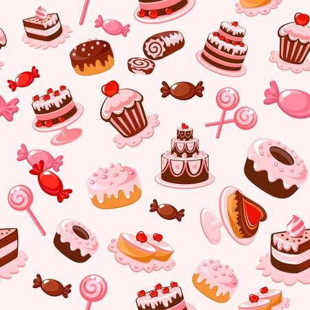 sweet seamless background Stock Vector - 13119395