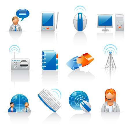Communication and internet icons  Stock Vector - 13119393