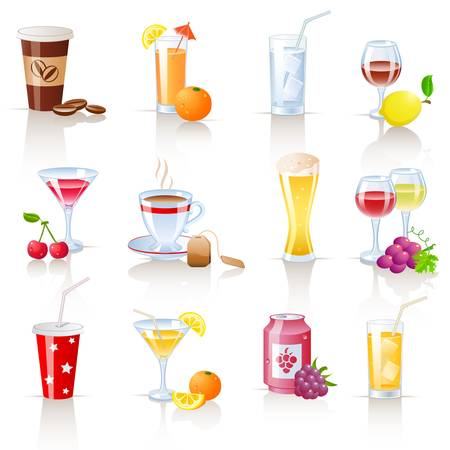cocoa fruit: drinks icons