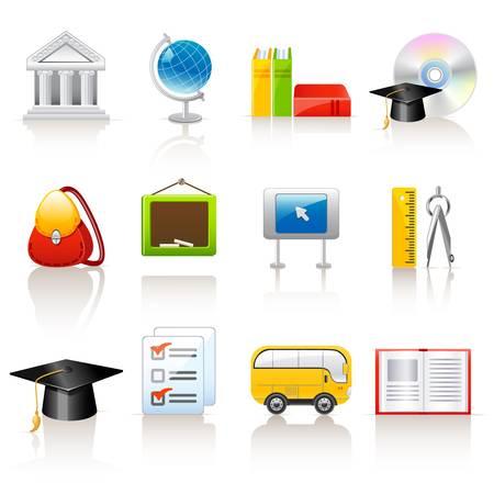 schooldays: education icons
