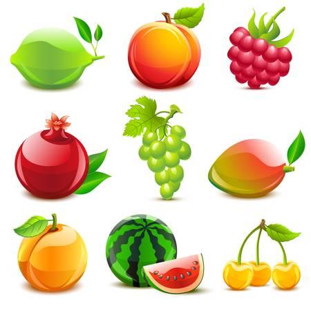 Glossy fruit set