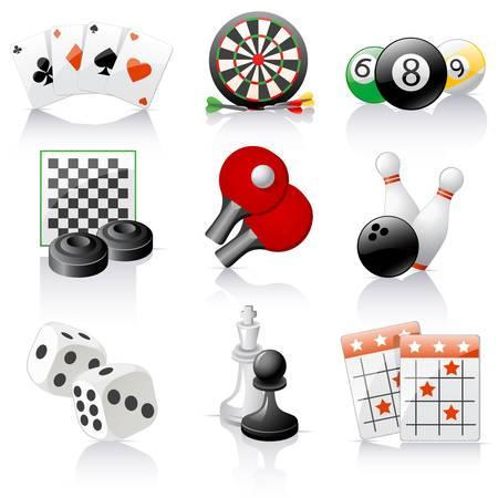 jeu de carte: icônes des jeux