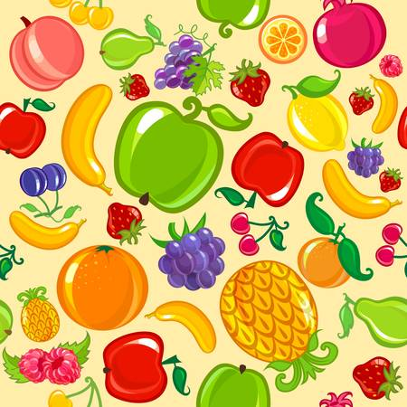 seamless fruit background Vectores