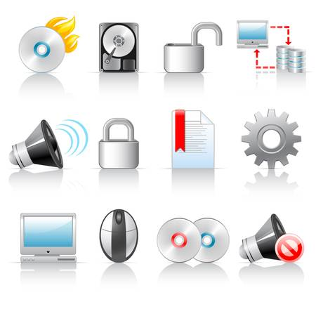 Computer icons  Stock Vector - 13446405