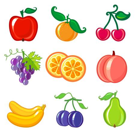 fruit icons Stock Vector - 13651521