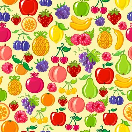 manzana caricatura: fruto de fondo Vectores
