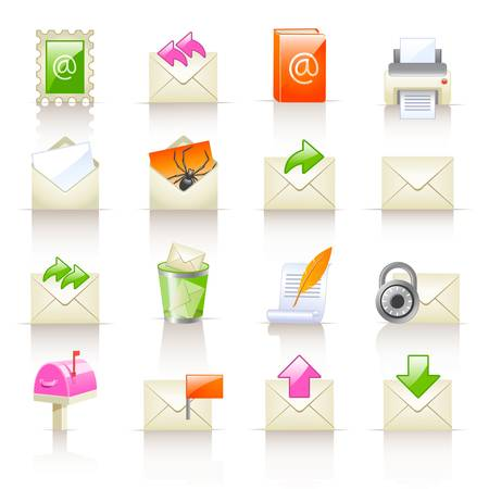mail service icons Stock Vector - 13651526