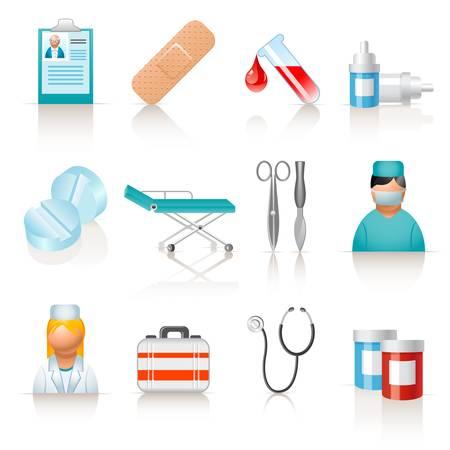infermiere paziente: Icone mediche
