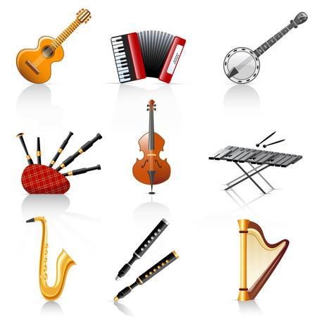 instruments de musique: instruments de musique Illustration