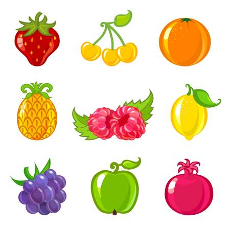 fruit icons Stock Vector - 13957262