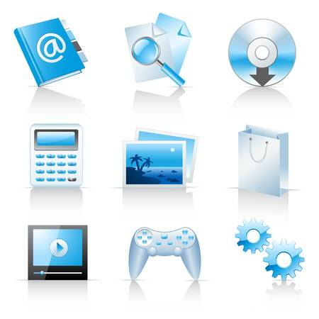 game pad: Icons for web applications and services  Illustration