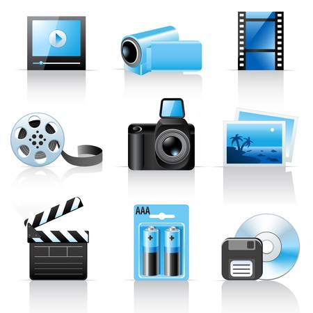 video reel: Photo and video icons