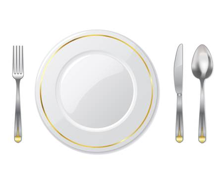 empty plate: place setting - vector illustration Illustration