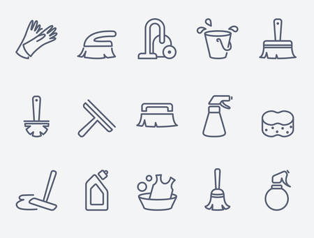 cleaning: cleaning icons
