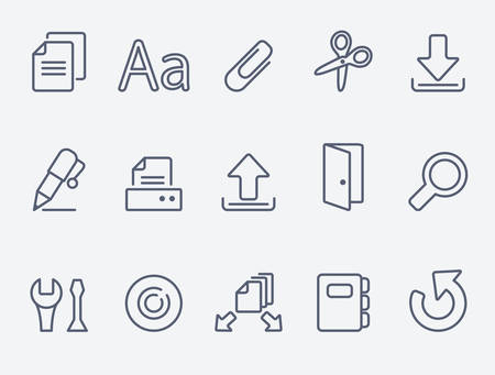 open diary: Document icon set