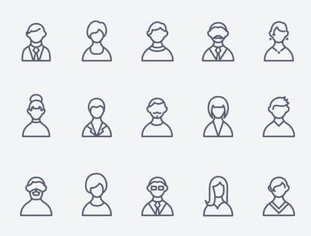 люди: Люди значки Иллюстрация