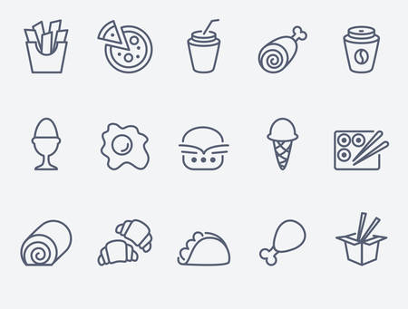 fast: Food icons