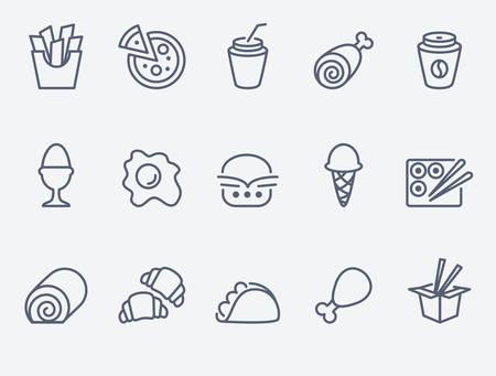 Los iconos de los alimentos
