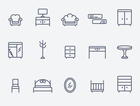 sofa furniture: Furniture icons