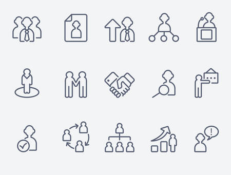 business partnership: Human management icons