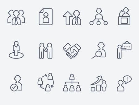 stretta di mano: Icone della gestione di umani Vettoriali