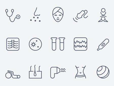 Medicina set di icone, il design sottile linea