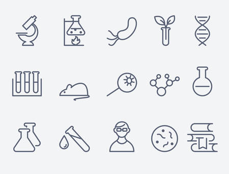 laboratory research: science and research icons Illustration