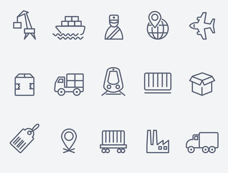 delivery icon: logistic icons