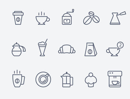 coffee sack: Coffee icons