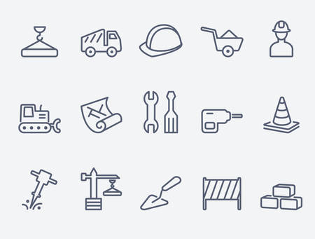 car icons: Building icons