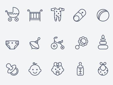 pacifier: iconos de bebé