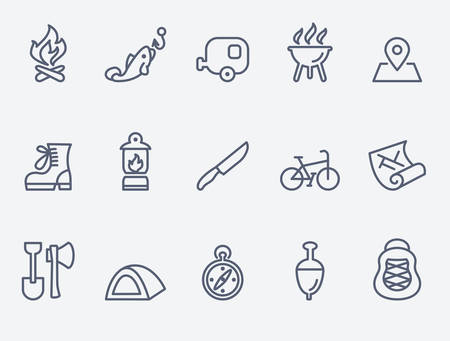 floater: Camping icons